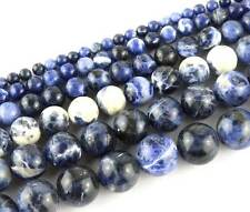2mm 3mm 4mm 6mm 8mm 10mm Natural Sodalite Round Gemstone Beads 15''