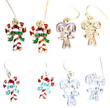 Gold tone bow and hanging crystal apple earrings 2 colours