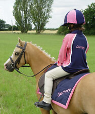 Embroidered Twin colour Eventing Driving Top child adult with matching Polypad