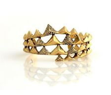 HOUSE OF HARLOW 1960 Vintage Pyramid Pave Swarovski Crystals Wrap Cuff Bracelet