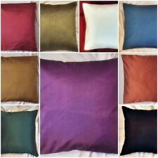 "Plain poly silk cushion covers pillow case sofa throw couch decor 16"" one cover"