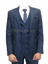 MARC DARCY  MENS 3PC SUIT BLUE IDEAL FOR WEDDINGS,SCHOOL PROMS AND OFFICE WEAR