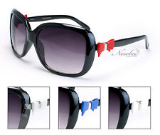 Cute Bow Design Sunglasses Adorable Bow Ornament Attached To Temple Big Frame