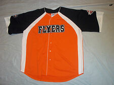 PHILADELPHIA FLYERS MAJESTIC BASEBALL JERSEY SIZE XXLARGE GREAT UNIQUE PRODUCT!