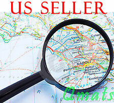 NEW 60/ 90mm Magnifier Hand Held 3X Magnifying Glass MAP NEWSPAPER BOOK READING