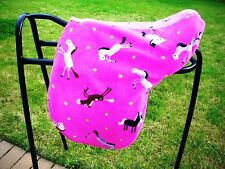 FLEECE PINK HORSE SADDLE COVER ALSO AS RIDE ON & DRESSAGE