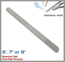 """Diamond Deb Foot Skin And Nail File Steel - Autoclavable, BRAND NEW 6"""", 7"""" or 8"""""""