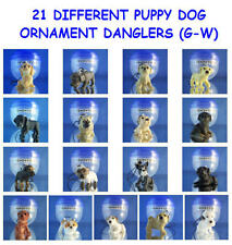 21 NEW DIFFERENT PUPPIES DOG  (G-W) ORNAMENT CELL PHONE DANGLERS - YOU PICK ONE