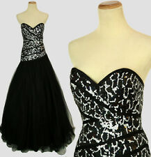 New Genuine Jovani 9209 Black Sequins Strapless Ball Cruise Evening Gown  Size 4
