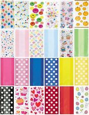 Cello Party Bags - Patterned or Plain -  Loot Gift Lootbags Sweets Cakes