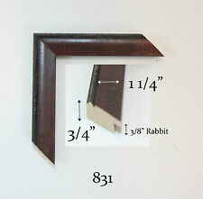 "Custom Wood Picture Frame - 1 1/4"" #831 - Any Size! Great for Diplomas, Photos!"