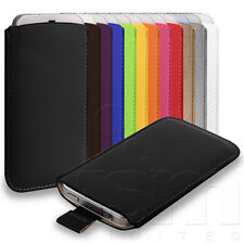 12 COLOURS CUSTOM FIT PU LEATHER SLEEVE POUCH CASE FOR VARIOUS MOBILE PHONES