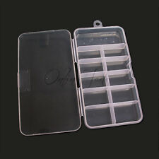 Empty Clear Plastic Containers Storage Box Case For Nail Art 100 Tips Decoration