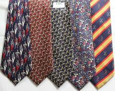 MENS NEW TIES HAND MADE 100% POL .PRICE FOR   5 TIES -T 039
