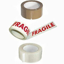 CLEAR BROWN FRAGILE BUFF DUCK DUCT GAFFER SELLOTAPE SELLO TAPE 24 36 48mm 50m
