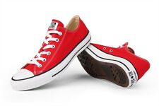 CONVERSE CHUCK TAYLOR RED/WHITE LOW TOP  CANVAS NEW IN BOX SIZES 3.5 TO 12