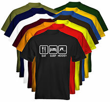Eat Sleep Mens T-Shirt Eat Sleep Hockey Size & Colour Options