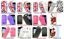 Union Jack, Keep Calm And Carry On, Pink  Diamond Flip Case For Various Mobiles