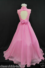 Children Teen Girl National Glitz Pageant Long Pink Dress Sz 5 6 7 8 10 12 14