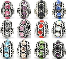 10 Rhinestone Spacer Beads Fit Charm Bracelet 11mm M0327