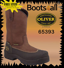 "New Oliver AT's Rigger Work Mining Boots Safety/Steel Toe 10 ""ToughPull On 65393"