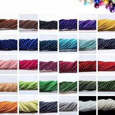 4mm/6mm/8mm/10mm Lightful Glass Pearl Round Spacer Beads Many Colors For Choose