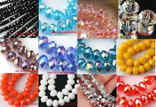 80pcs Faceted Glass Crystal Bicone Loose Spacer Beads 4*6mm AB Color For Choose
