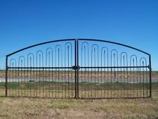 Wide Opening Driveway Gate - Made to Order to Fit, Handmade works w/ 3' Fence