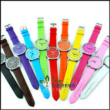2014 NEW Unique Mathematics Dial Ladies Woman Colorful Wrist Watch 11 Colors