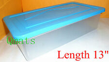 """Stackable 13"""" Shoe Boxes Organizers Plastic Storage Containers Bins Case W/ LIDS"""