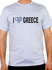 I Love Greece T-Shirt - Mens - Various Sizes and Colours