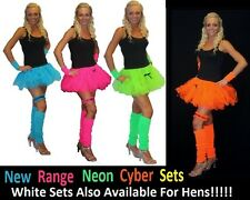 Neon Cyber Tutu 4PC Set Fancy Dress 1980s Rave Club Acid House Hen Nights