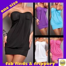 Sexy Strapless Mini Dress +G-string ★OS 8-12★ 5 colours★ club party cocktail