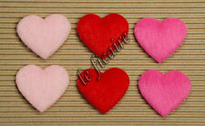 "U PICK~ 1-3/8"" Furry Hearts Appliques Valentine's Crafts Trims x 60 pcs #2415"