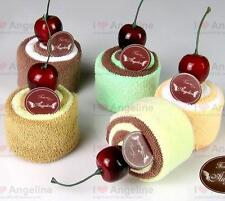 Sweet Cherry Cheese Cake shape Towel Cotton Washcloth Gifts Multi-color
