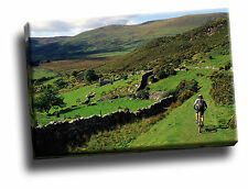 Mountain Biking Near Barmouth, Wales Giclee Canvas Picture Art