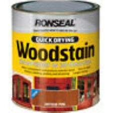 RONSEAL QUICK DRYING WOODSTAIN 250ML SATIN OR GLOSS