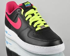 Nike Air Force 1 I London new mens lifestyle shoes black white volt pink