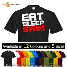 Eat Sleep Mens T-Shirt Eat Sleep Swim Size & Colour Options