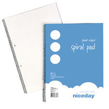 A4 FAINT RULED PAPER WRITING PADS SPIRAL BOUND TWO HOLE PUNCHED- 5379561