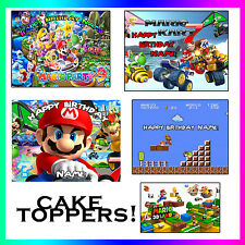 SUPER MARIO BROS Birthday topper Edible picture for Cake image FROSTING SHEET