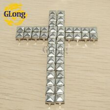 6mm Pyramid Studs Nickel Silver Punk Rock DIY Rivets Nailheads Spike/GZ005-6S