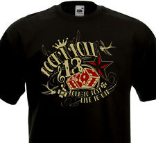 T-shirt ROCK'N'ROLL - Lucky Old School Rocker 13 Dés Luck Tattoo Rockabilly