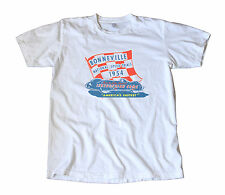 Vintage 1954 Iskenderian Racing Cams Bonneville Decal T-Shirt - Hot Rod, Speed