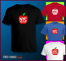 NEW YORK CITY 'BIG APPLE' NYC T SHIRT 'I Love NY' New York State SIZES TO 4XL