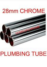 28mm Chrome Plumbing Tube 28mm Chrome Tube Pipe Lengths from 100mm to 1000mm