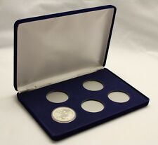Blue Velvet Display Box for Coins In Airtite Capsule Holders 5 I Air-tite