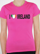 I LOVE IRELAND WITH IRISH FLAG IN A HEART SHAPE - International Womens T-Shirt