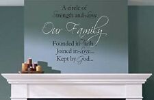 Our Family Circle Vinyl Wall Decal Quotes Lettering