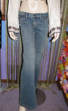 NEW! JUICY COUTURE Distressed Wash KENDRA Fashion WIDE LEG DENIM JEANS  27 $158